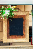 Empty chalk board Stock Images
