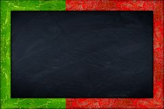 Blackboard with portugal flag frame Stock Photography