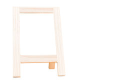 Empty Chalkboard isolate on white with Clipping path Stock Photo