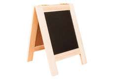 Empty Chalkboard isolate on white with Clipping path Royalty Free Stock Images