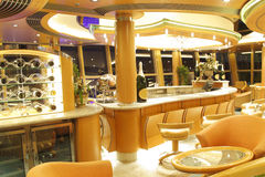 Empty champagne bar royalty free stock photos
