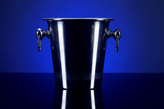 Empty champagne bucket Royalty Free Stock Photography