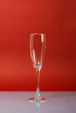 Empty Champagne Glass Stock Photography