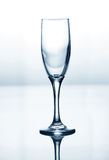 Empty champagne glass Stock Photo