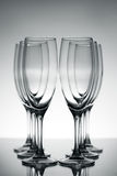 Empty champagne glasses Stock Image