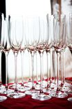 Empty champagne glasses Royalty Free Stock Photo