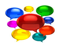 Empty chat balloons Royalty Free Stock Image