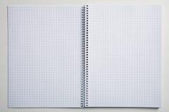 Empty checked notebook Stock Photos