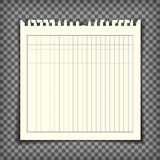 Empty checkered note book page with torn edge Stock Photo