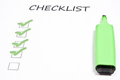 Empty checklist Stock Images