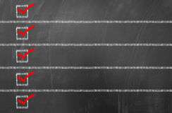 Empty checklist on blackboard stock images