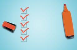 Empty checklist stock photos