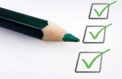 Empty checklist Royalty Free Stock Photos
