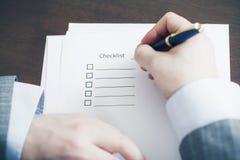 Empty Checklist Royalty Free Stock Image