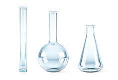 Empty chemical flasks Stock Images