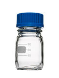 Empty chemical heat resistant bottle. Isolated Stock Image