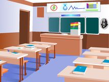 Empty Chemistry classroom. Royalty Free Stock Image