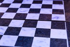 Empty chess board for background Royalty Free Stock Photo