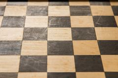 Empty chess board game wood Stock Image
