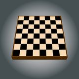 Empty chess board. Vector illustration. Isolated on a background royalty free illustration