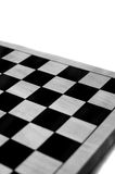 Empty Chess/Checkers Board BW Royalty Free Stock Images