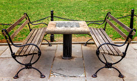 Empty Chess Table in New York City Park Royalty Free Stock Image