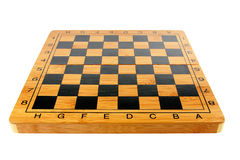 Empty chessboard in brown design. Isolated on white background Royalty Free Stock Photography