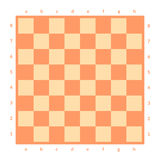Empty chessboard isolated. Board for chess or checkers game. Strategy game concept. Checkerboard background. stock illustration