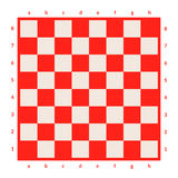 Empty chessboard isolated. Board for chess or checkers game. Strategy game concept. Checkerboard background. Royalty Free Stock Photos