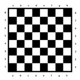 Empty chessboard isolated. Board for chess or checkers game. Strategy game concept. Checkerboard background. Empty chessboard isolated. Board for chess or Stock Photo