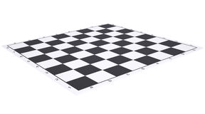 Empty chessboard Stock Photo