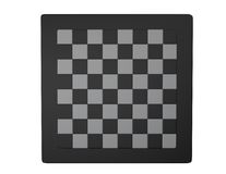Empty chessboard white and black isolated top view Stock Image