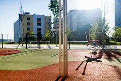 Empty children playground Royalty Free Stock Photos