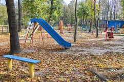 Empty children's playground Royalty Free Stock Image
