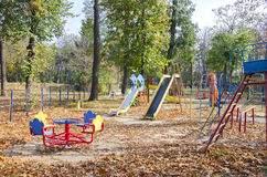 Empty children's playground Royalty Free Stock Photo