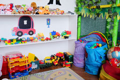 Empty children's playroom stock photos