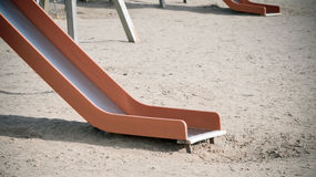 Empty children's slide Royalty Free Stock Photography