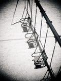 Empty childrens swing Stock Photo