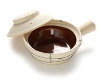 Empty chinese clay pot Royalty Free Stock Images