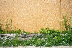 Empty chipboard fence Royalty Free Stock Photography