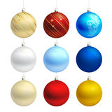 Empty christmas bauble templates  Stock Images