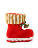 Empty christmas boot Stock Image