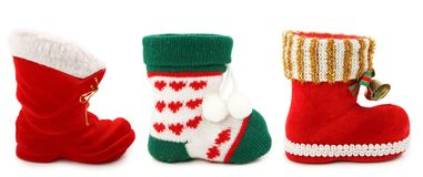Empty christmas boots Royalty Free Stock Photo