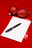 Empty christmas card  envelope Stock Photography