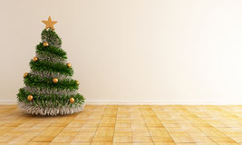 Empty christmas interior Stock Photos