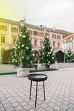 Empty Christmas market Royalty Free Stock Images
