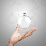 Empty Christmas ornament Royalty Free Stock Image