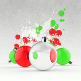 Empty Christmas ornament and splash Stock Images