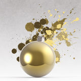 Empty Christmas ornament and splash Royalty Free Stock Image