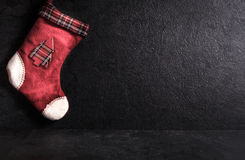Empty Christmas sock Stock Images